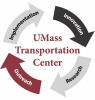 "UMass Transportation Center circle logo reading ""implementation innovation research outreach"""